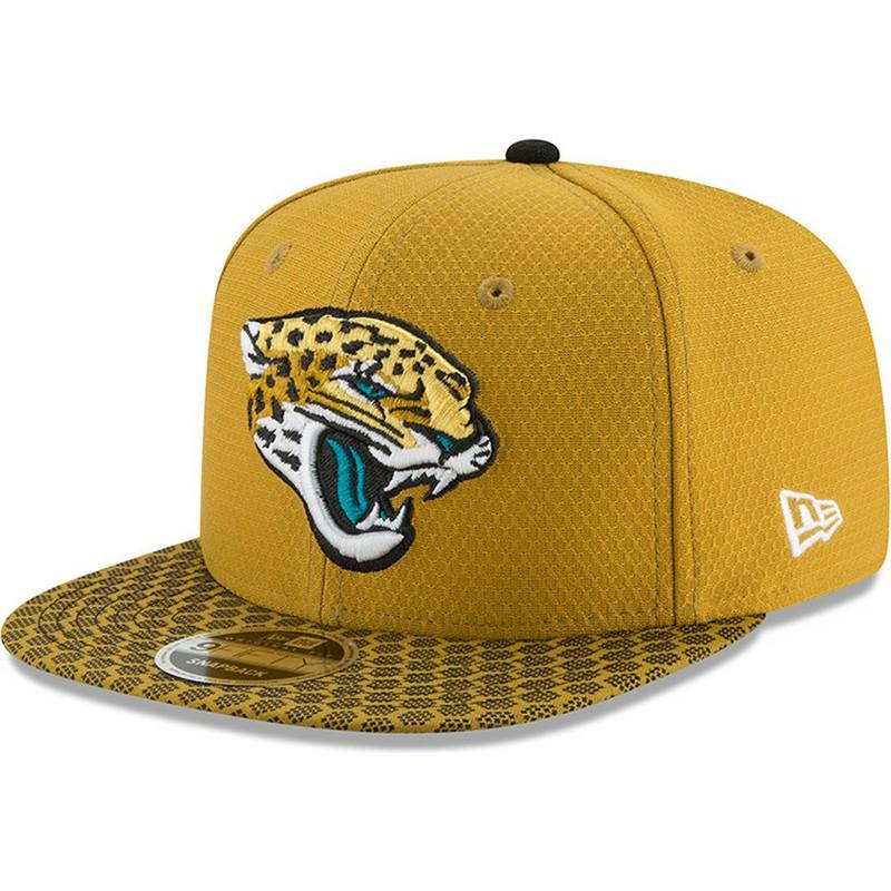 3e763350d8c88 New Era Flat Brim 9FIFTY Sideline Jacksonville Jaguars NFL Yellow ...