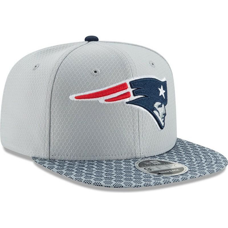 cac00fccaa923 New Era Flat Brim 9FIFTY Sideline New England Patriots NFL Grey ...