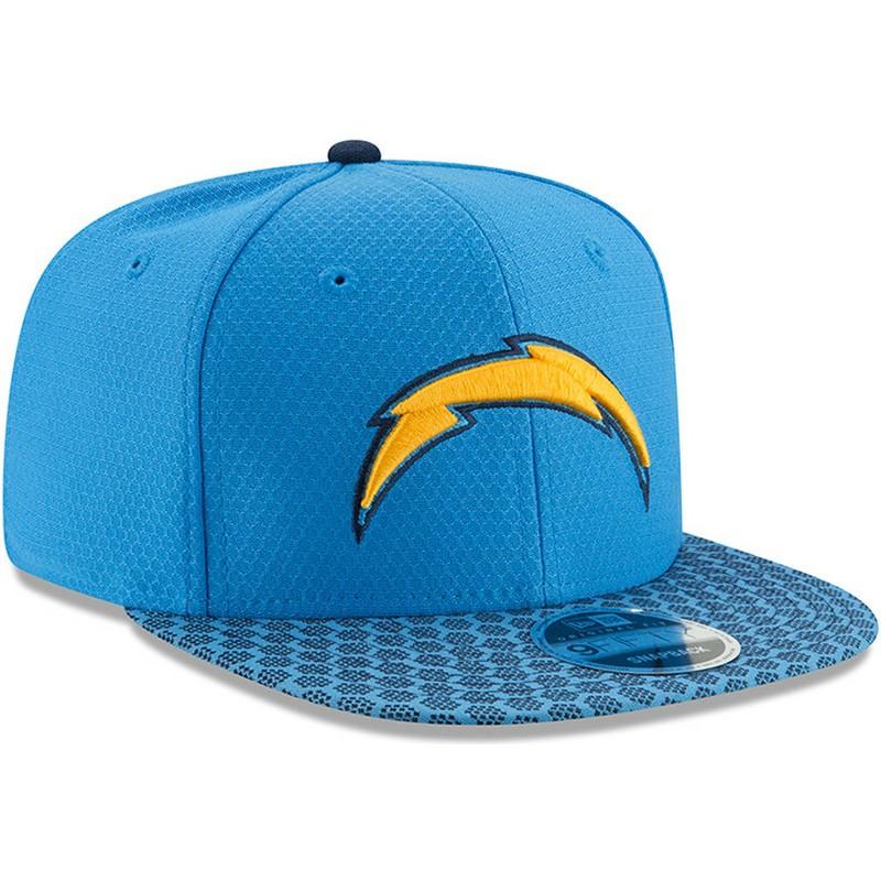 04fddb23b05e0 New Era Flat Brim 9FIFTY Sideline San Diego Chargers NFL Blue ...