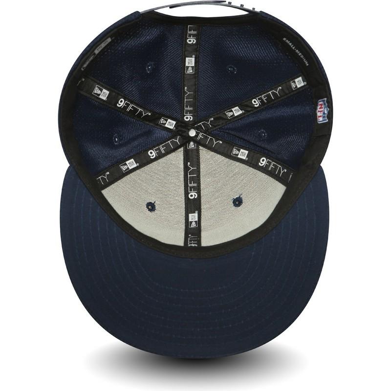 ea6de770a9e New Era Flat Brim 9FIFTY Mesh Seattle Seahawks NFL Blue Snapback Cap ...