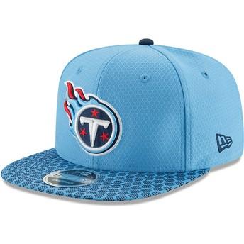 New Era Flat Brim 9FIFTY Sideline Tennessee Titans NFL Blue Snapback Cap