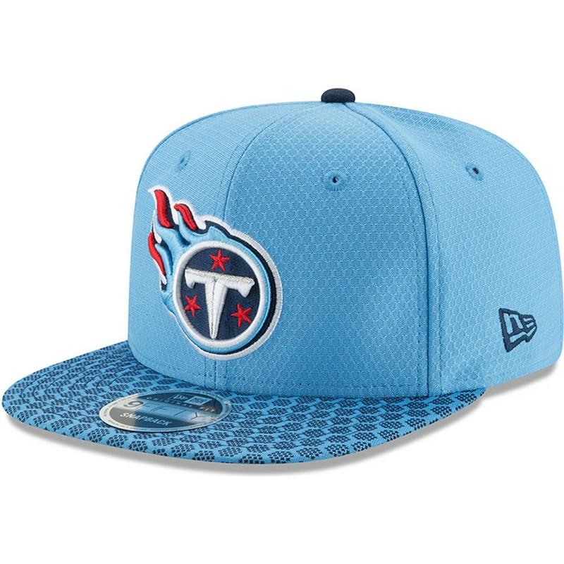 2f494a0a New Era Flat Brim 9FIFTY Sideline Tennessee Titans NFL Blue Snapback Cap