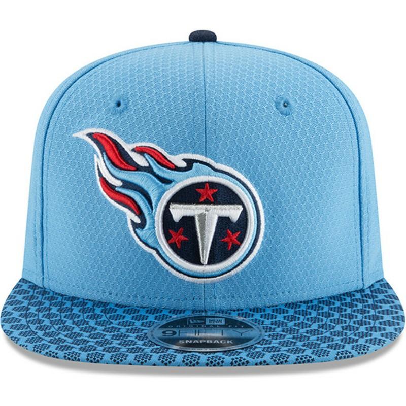3ead2d7810206 New Era Flat Brim 9FIFTY Sideline Tennessee Titans NFL Blue Snapback ...