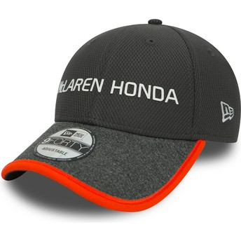 New Era Curved Brim 9FORTY McLaren Racing Formula 1 Grey Adjustable Cap
