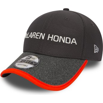 New Era Curved Brim 9FORTY Fernando Alonso McLaren Racing Formula 1 Grey Adjustable Cap