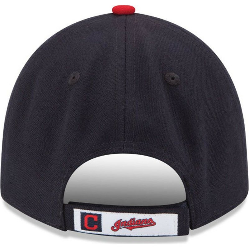2cd4f4fbb69 New Era Curved Brim 9FORTY The League Cleveland indians MLB Black ...