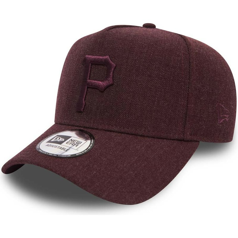 New Era Curved Brim Maroon Logo 9FORTY Seasonal Heather A Frame ... d6c95ce685d
