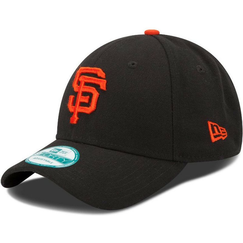 new-era-curved-brim-9forty-the-league-san-francisco-giants-mlb-black-adjustable-cap