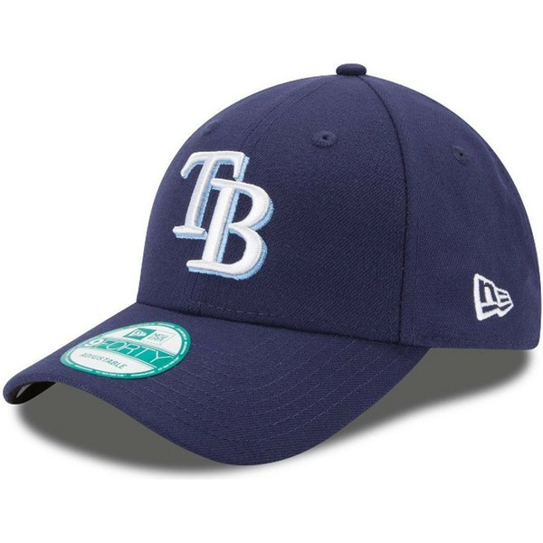 new-era-curved-brim-9forty-the-league-tampa-bay-rays-mlb-navy-blue-adjustable-cap