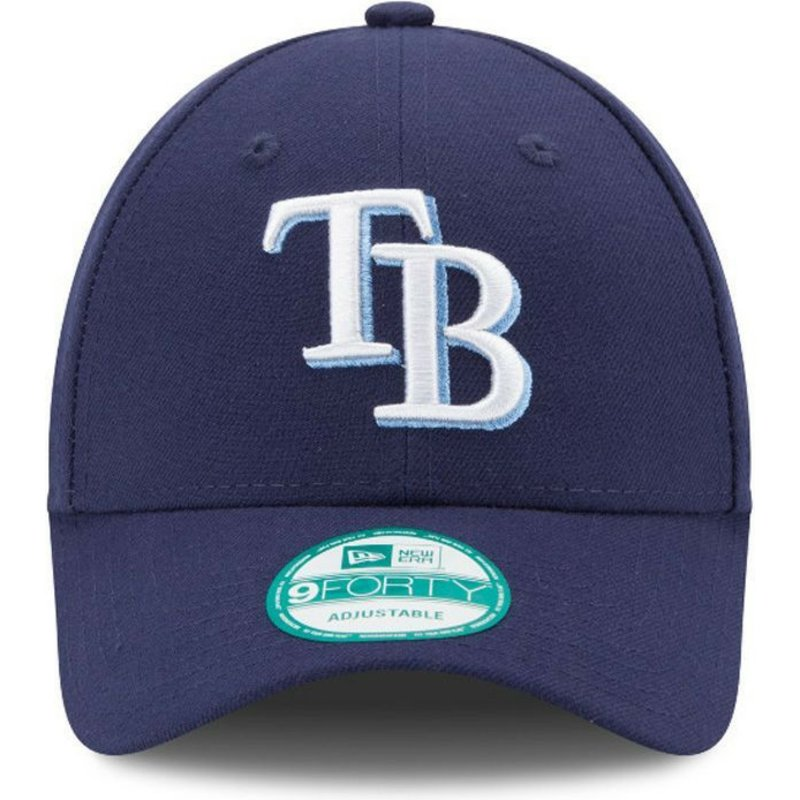 New Era Curved Brim 9FORTY The League Tampa Bay Rays MLB Navy Blue ... 56d797c5764