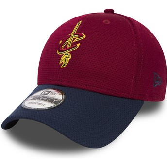 New Era Curved Brim 9FORTY Mesh Cleveland Cavaliers NBA Red and Blue Adjustable Cap