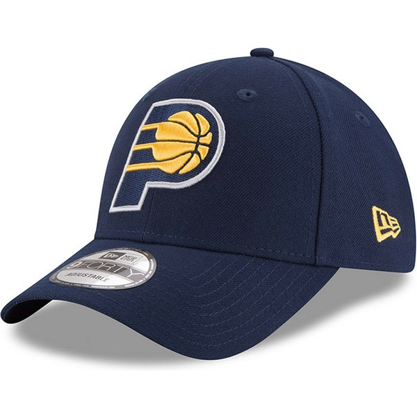 new-era-curved-brim-9forty-the-league-indiana-pacers-nba-navy-blue-adjustable-cap