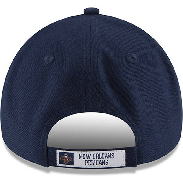 new-era-curved-brim-9forty-the-league-new-orleans-pelicans-nba-navy-blue-adjustable-cap