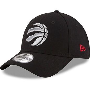 New Era Curved Brim 9FORTY The League Toronto Raptors NBA Black Adjustable Cap