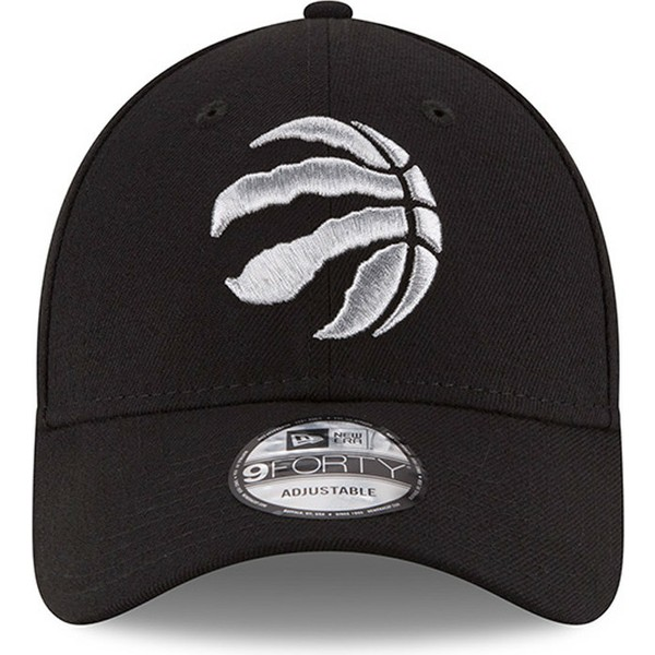 new-era-curved-brim-9forty-the-league-toronto-raptors-nba-black-adjustable-cap