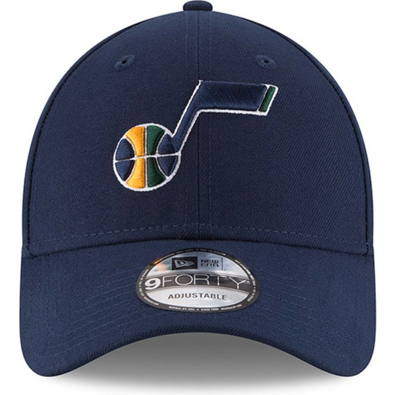44fd3226280 New Era Curved Brim 9FORTY The League Utah Jazz NBA Navy Blue ...