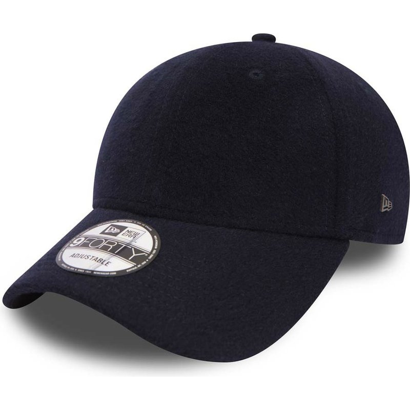 1de3f4bdf07 New Era Curved Brim 9FORTY Camel Hair Navy Blue Adjustable Cap  Shop ...