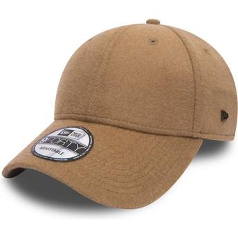 New Era Curved Brim 9FORTY Camel Hair Brown Adjustable Cap