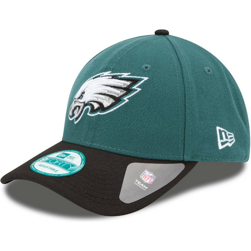 New Era Curved Brim 9FORTY The League Philadelphia Eagles NFL Green ... aed17a0682e