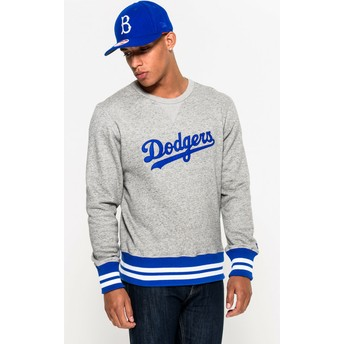 New Era Crew Neck Heritage Brooklyn Dodgers MLB Grey Sweatshirt