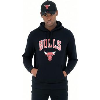 Sudadera con capucha negra Pullover Hoody de Chicago Bulls NBA de New Era