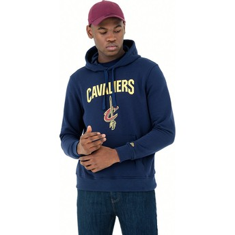 Sudadera con capucha azul marino Pullover Hoody de Cleveland Cavaliers NBA de New Era