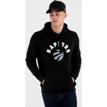 Sudadera con capucha negra Pullover Hoody de Toronto Raptors NBA de New Era