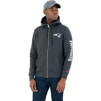 New Era Full Zipped Hoody New England Patriots NFL Stone Sweatshirt