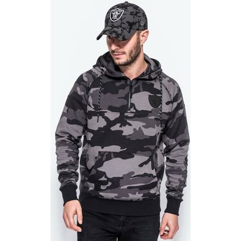 New Era Half Zipped Hoody Oakland Raiders NFL Camouflage Sweatshirt