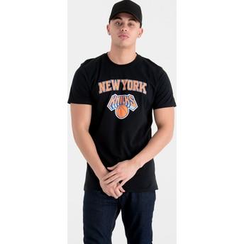 Camiseta manga corta negra de New York Knicks NBA de New Era