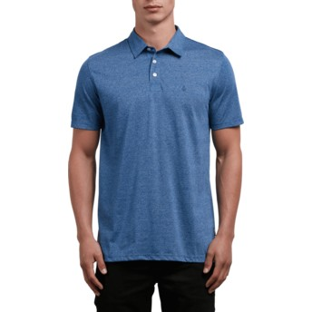 Volcom Blue Drift Wowzer Blue Polo