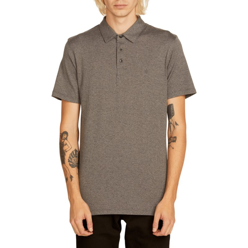 7e8b95e3 Volcom Stealth Wowzer Grey Polo
