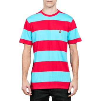 Volcom Dusty Aqua Burger Blue and Red T-Shirt