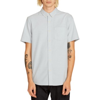 Volcom Wrecked Indigo Everett Oxford Blue Short Sleeve Shirt