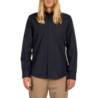 Volcom Navy Everett Solid Navy Blue Long Sleeve Shirt