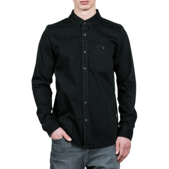 Volcom Black Crowley Black Long Sleeve Shirt