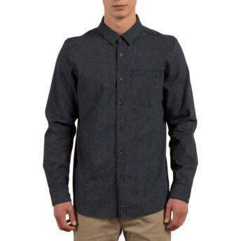 Volcom Indigo Crowley Navy Blue Long Sleeve Shirt