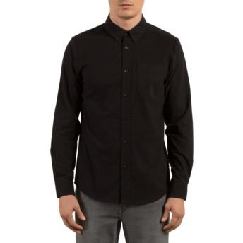 Volcom Black Oxford Stretch Black Long Sleeve Shirt
