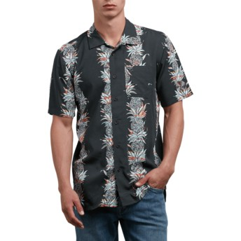 Volcom Stealth Palm Glitch Black Short Sleeve Shirt