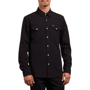 Volcom Black Hayes Black Long Sleeve Shirt