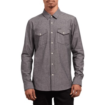 Volcom Grey Hayes Grey Long Sleeve Shirt