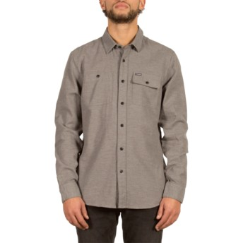 Volcom Dark Grey Hickson Grey Long Sleeve Shirt