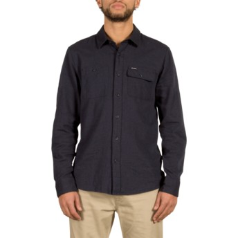 Volcom Navy Hickson Navy Blue Long Sleeve Shirt