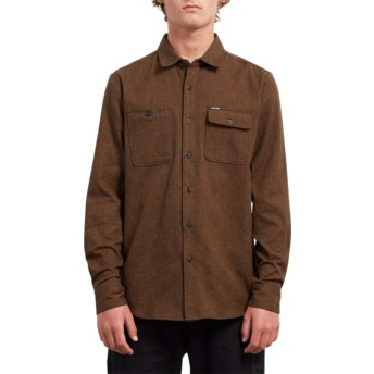 Volcom Hazelnut Hickson Update Brown Long Sleeve Shirt