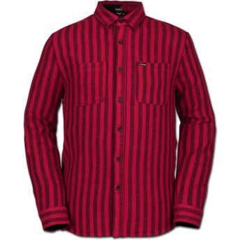 Volcom Engine Red Shader Red Long Sleeve Shirt