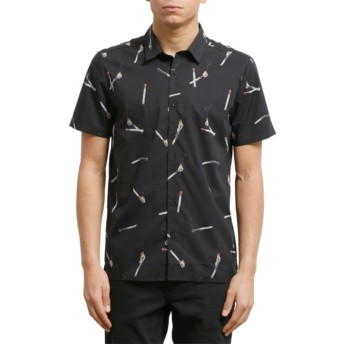 Volcom Black Waits Black Short Sleeve Shirt