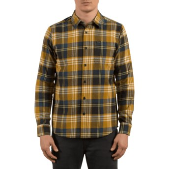 Volcom Caramel Caden Brown Long Sleeve Check Shirt