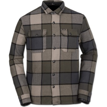 Volcom Military Randower Green Long Sleeve Check Shirt