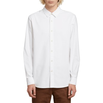 Volcom White Oxford Stretch White Long Sleeve Shirt