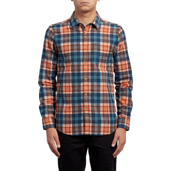 volcom-scream-red-hayden-orange-and-blue-long-sleeve-check-shirt